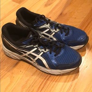Asics Blue, Black and White Running Sneakers